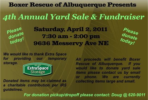 4th Annual Yard Sale
